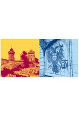 ART-DOMINO® BY SABINE WELZ Nürnberg - Kaiserburg + Kaiserburg-Tor