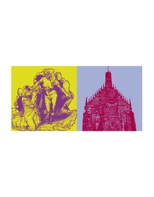 ART-DOMINO® BY SABINE WELZ Nürnberg - Ehekarussel + Frauenkirche