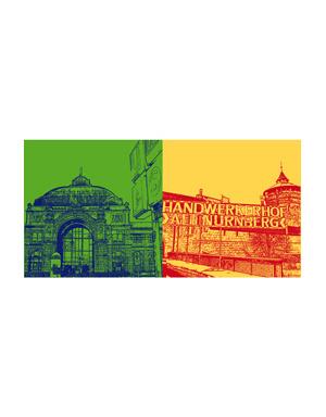 ART-DOMINO® BY SABINE WELZ Nürnberg - Hauptbahnhof + Handwerkerhof