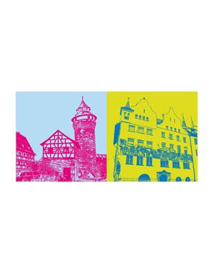 ART-DOMINO® BY SABINE WELZ Nürnberg - Kaiserburg + IHK