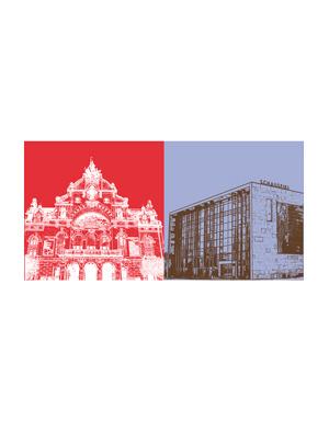 ART-DOMINO® BY SABINE WELZ Nürnberg - Opernhaus + Schauspiel