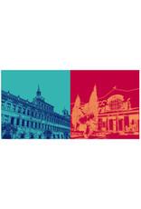 ART-DOMINO® BY SABINE WELZ Nürnberg - Altes Rathaus + Germanisches Nationalmuseum