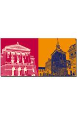 ART-DOMINO® BY SABINE WELZ Oldenburg - Staatstheater + Lappan Glockenturm