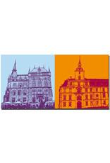 ART-DOMINO® BY SABINE WELZ Oldenburg - Rathaus + Schloss Oldenburg