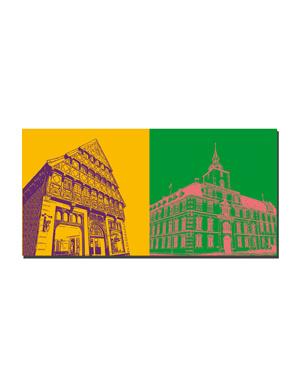 ART-DOMINO® BY SABINE WELZ Oldenburg - Haus Degode + Schloss Oldenburg