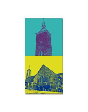 ART-DOMINO® BY SABINE WELZ Oldenburg - Lappan Glockenturm + Bahnhof