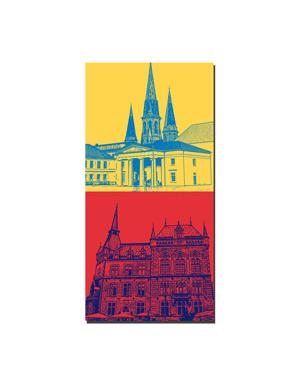 ART-DOMINO® BY SABINE WELZ Oldenburg - Schlosswache + Rathaus