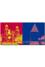 ART-DOMINO® BY SABINE WELZ Passau - Dom St. Stephan + Schaiblingsturm