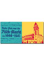 ART-DOMINO® BY SABINE WELZ Passau - Schild Fischmarkt + Rathaus