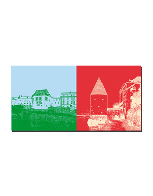 ART-DOMINO® BY SABINE WELZ Passau - Veste Oberhaus + Schaiblingsturm