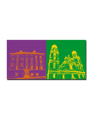 ART-DOMINO® BY SABINE WELZ Passau - Alter Domherrenhof, Landratsamt + Dom St. Stephan