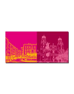 ART-DOMINO® BY SABINE WELZ Passau - Residenzplatz + Dom St. Stephan