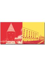ART-DOMINO® BY SABINE WELZ Passau - Schaiblingsturm + Uni Philosophicum und Hauptgebäude