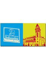 ART-DOMINO® BY SABINE WELZ Passau - Schild Rathausplatz 2 + Rathaus
