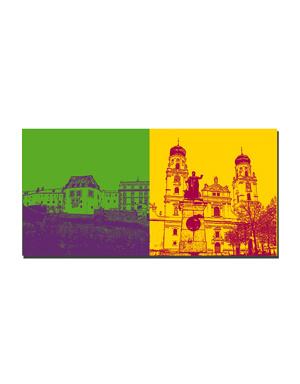 ART-DOMINO® BY SABINE WELZ Passau - Veste Oberhaus + Dom St. Stephan