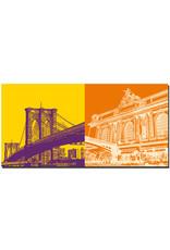 ART-DOMINO® BY SABINE WELZ New York - Brooklyn Bridge + Grand Central Station