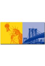 ART-DOMINO® BY SABINE WELZ New York - Freiheitsstatue + Brooklyn Bridge