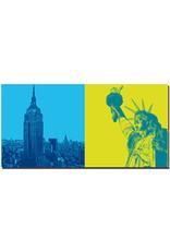 ART-DOMINO® BY SABINE WELZ New York - Empire State Building + Freiheitsstatue