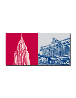 ART-DOMINO® BY SABINE WELZ New York - Chrysler Building + Grand Central Station