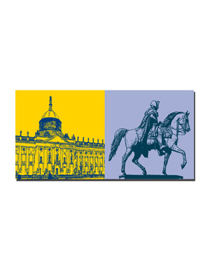 ART-DOMINO® BY SABINE WELZ Potsdam - Neues Palais + Alter Fritz