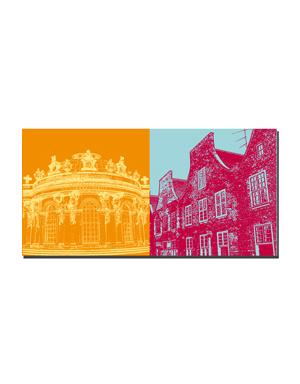 ART-DOMINO® BY SABINE WELZ Potsdam - Schloss Sanssouci + Holländer Viertel