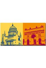 ART-DOMINO® BY SABINE WELZ Potsdam - Nicolaikirche + Brandenburger Tor