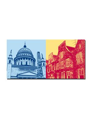 ART-DOMINO® BY SABINE WELZ Potsdam - Nicolaikirche + Holländerviertel