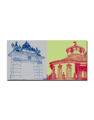 ART-DOMINO® BY SABINE WELZ Potsdam - Jägertor + Chinesisches Teehaus