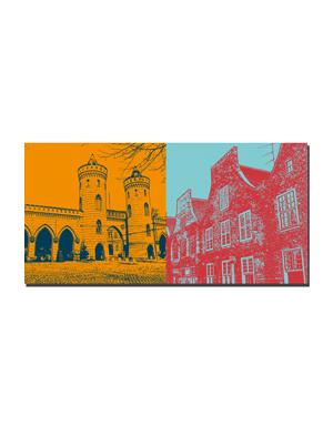 ART-DOMINO® BY SABINE WELZ Potsdam - Nauener Tor + Holländerviertel