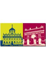 ART-DOMINO® BY SABINE WELZ Potsdam - Altes Stadthaus + Brandenburger Tor