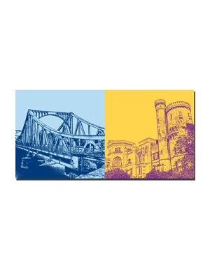 ART-DOMINO® BY SABINE WELZ Potsdam - Glienicker Brücke + Schloss Babelsberg