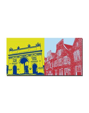 ART-DOMINO® BY SABINE WELZ Potsdam - Brandenburger Tor + Holländerviertel