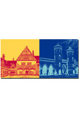 ART-DOMINO® BY SABINE WELZ Potsdam - Schloss Cecilienhof + Nauener Tor