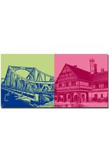 ART-DOMINO® BY SABINE WELZ Potsdam - Glienicker Brücke + Schloss Cecilienhof