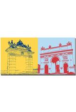 ART-DOMINO® BY SABINE WELZ Potsdam - Jägertor + Brandenburger Tor
