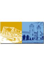 ART-DOMINO® BY SABINE WELZ Potsdam - Glienicker Brücke + Nauener Tor