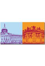 ART-DOMINO® BY SABINE WELZ Potsdam - Neues Palais + Schloss Sanssouci