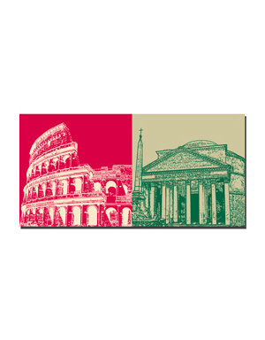 ART-DOMINO® BY SABINE WELZ Rom - Colosseum + Pantheon