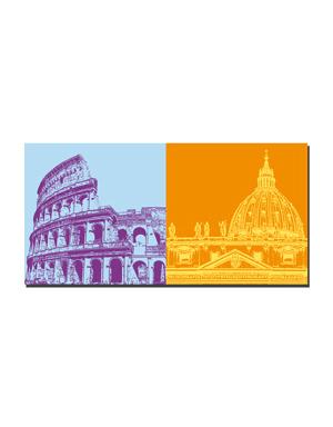 ART-DOMINO® BY SABINE WELZ Rom - Colosseum + Petersdom