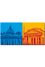 ART-DOMINO® BY SABINE WELZ Rom - Petersdom + Pantheon
