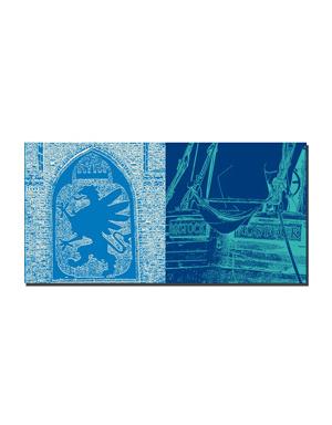 ART-DOMINO® BY SABINE WELZ Rostock - Wappen am Kröpeliner Tor + Schiff Rostock Detail