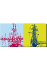 ART-DOMINO® BY SABINE WELZ Rostock - Schiff Rostock + Schiff Santa Barbara Anna