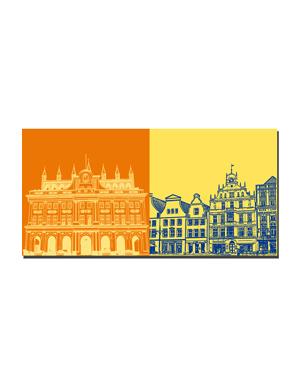 ART-DOMINO® BY SABINE WELZ Rostock - Rathaus + Neuer Markt