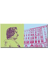 ART-DOMINO® BY SABINE WELZ Salzburg - Mozart + Mozarts Geburtshaus