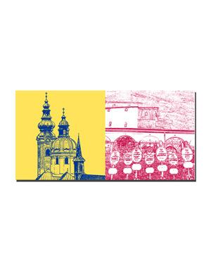 ART-DOMINO® BY SABINE WELZ Salzburg - Erzabtei St. Peter + St. Peter Katakomben
