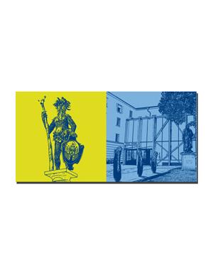 ART-DOMINO® BY SABINE WELZ Salzburg - Wilder Mann + Universität Salzburg