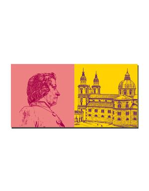 ART-DOMINO® BY SABINE WELZ Salzburg - Mozart + Dom