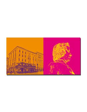 ART-DOMINO® BY SABINE WELZ Salzburg - Cafe Tomaselli / Alter Markt + Mozart