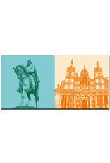 ART-DOMINO® BY SABINE WELZ Schwerin - Großherzog Friedrich Franz + Schloss Schwerin