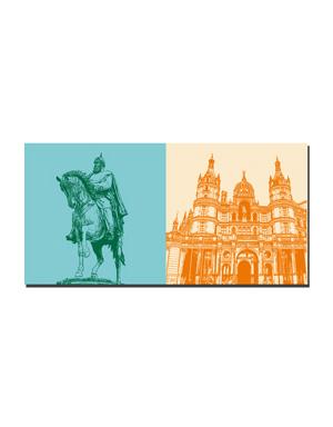 ART-DOMINO® BY SABINE WELZ Schwerin - Grand Duke Friedrich Franz + Castle Schwerin